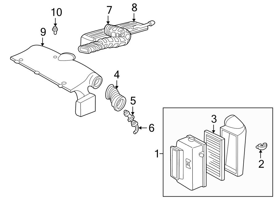 GMC Sonoma Pcv valve hose. 2.2 liter, 1994-97. Tube