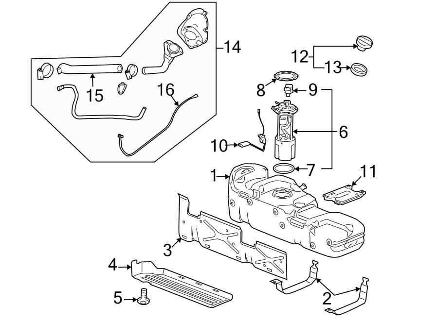 GMC Sierra 3500 HD Fuel Tank Shield Screw (Lower). LITER