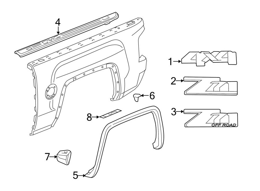 2015 GMC Sierra 3500 HD Side Body Trim Protector. Stone