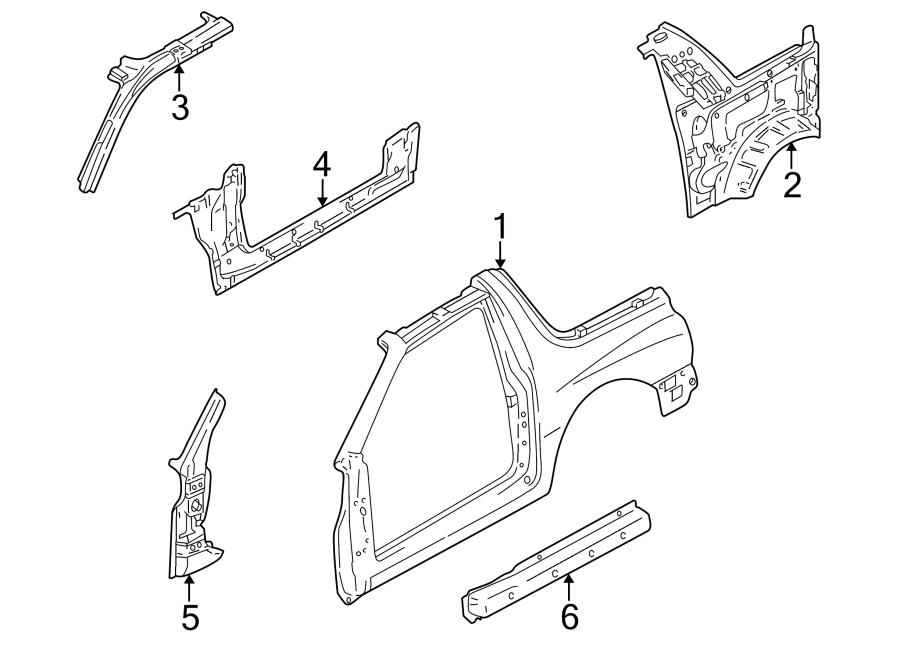 Chevrolet Tracker Body A-Pillar. 2 DOOR, upper. ROCKER
