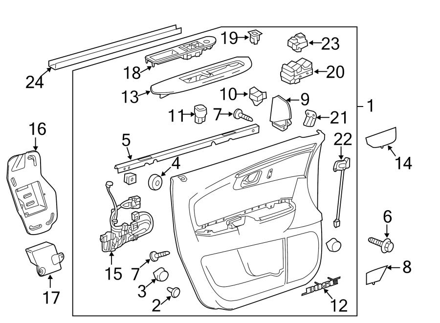 Chevrolet Traverse Door Interior Trim Panel Retainer. SIDE