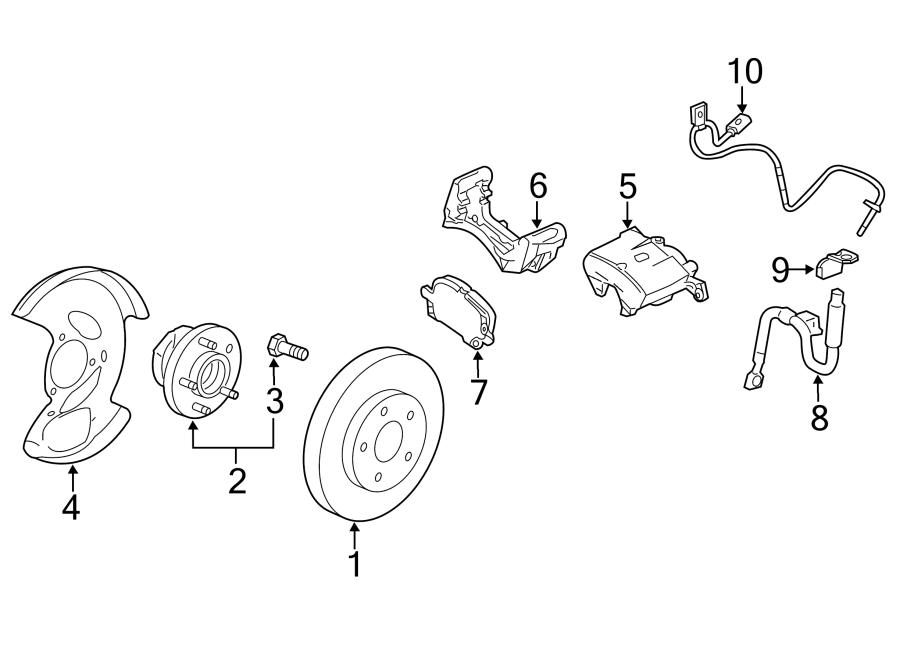 Chevrolet Equinox Abs wheel speed sensor (front