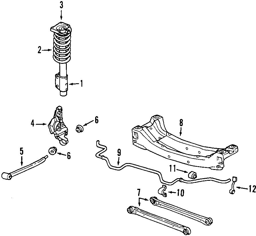 Oldsmobile Alero Suspension Subframe Crossmember (Rear