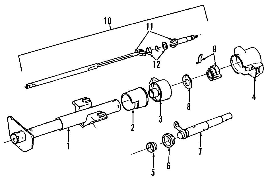 Oldsmobile Custom Cruiser Steering Column Cover (Upper