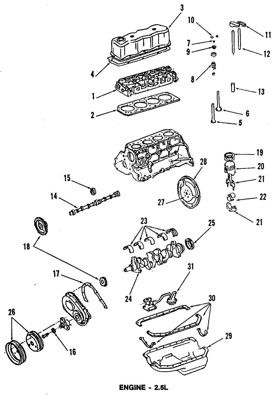 Chevrolet S10 Blazer Engine Camshaft Follower Lower
