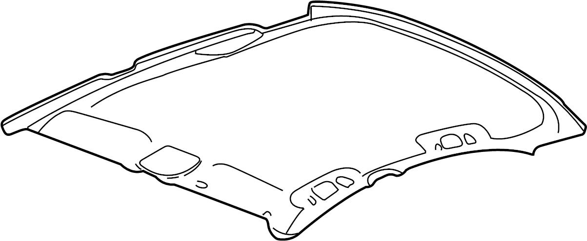 Buick Lesabre Headliner. W/sunroof gray. W/sunroof, gray
