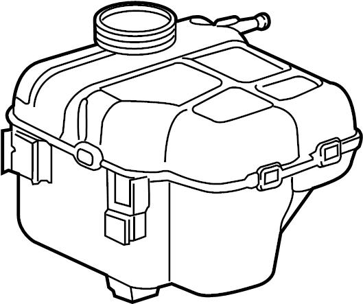 Chevrolet Cruze Engine Coolant Reservoir. Expansion tank