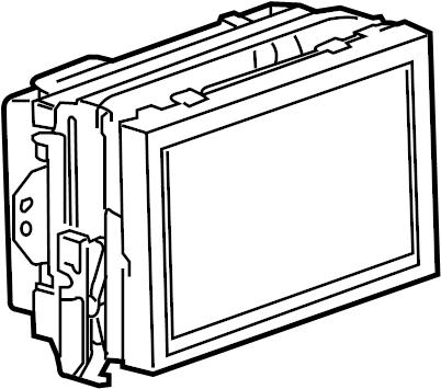 Cadillac SRX Display unit. 2010-12, w/navigation sys