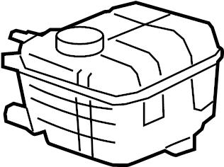 Chevrolet Cruze Engine Coolant Reservoir. LITER, Cooling