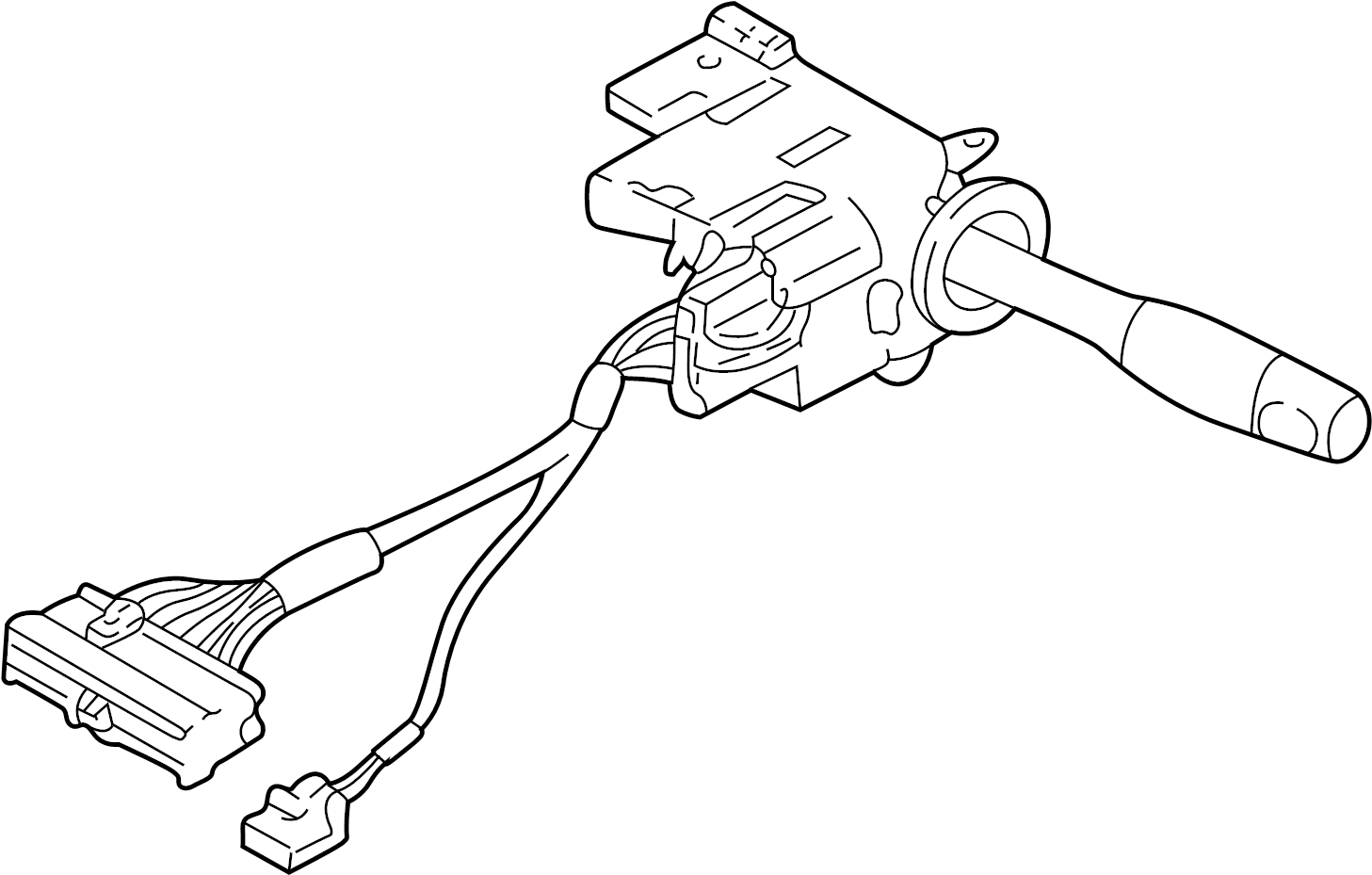 1997 Chevrolet Corvette Combination Switch. COLUMN