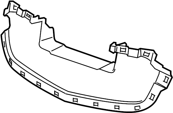 Chevrolet Malibu Radiator Support Air Deflector (Upper