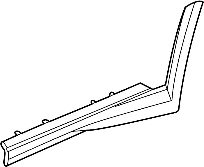 Pontiac Bonneville Rocker Panel Guard (Rear). SLE, SSEi
