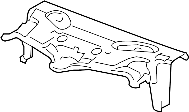 Pontiac Torrent Radiator Support Air Deflector. Front