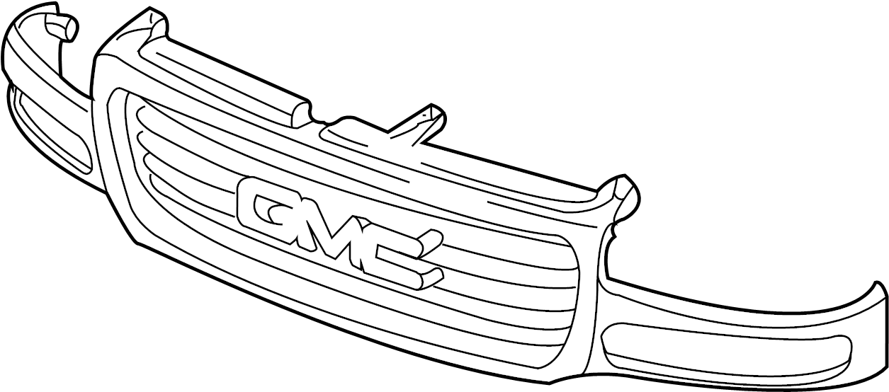 2002 Chevrolet Silverado 2500 Grille (Upper, Lower). Box