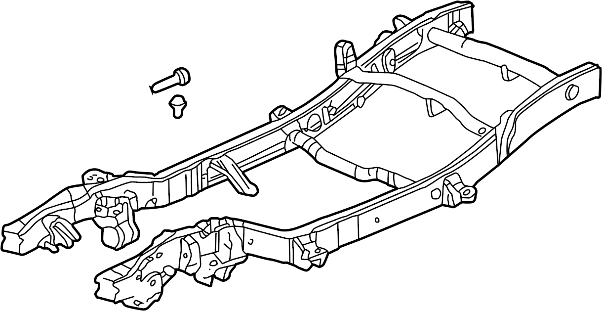 GMC Sierra 2500 HD Frame Rail (Front). 1 TON, 4WD, crew