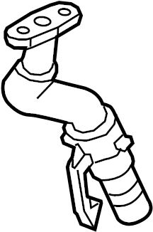 Chevrolet Cruze Turbocharger Oil Line. Tube, Inlet, Engine