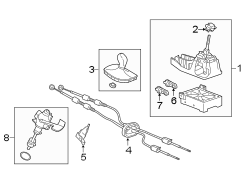 Buick Verano Shift knob. SHIFTER & COMPONENTS, MANUAL