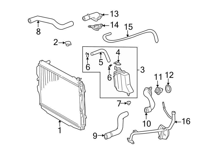 2004 Toyota Tundra Engine Coolant Outlet Gasket. Housing