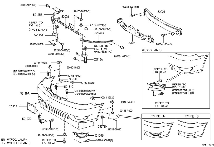 2007 Toyota Matrix Front Bumper Parts Diagram • Wiring