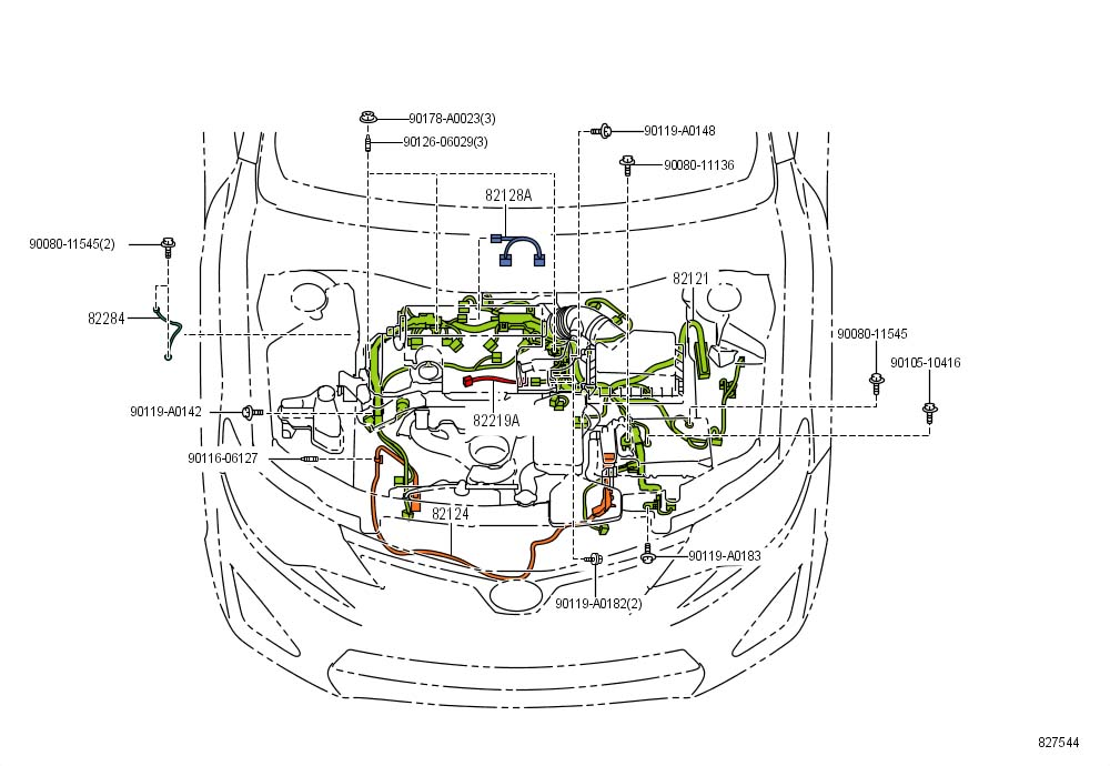 2014 TOYOTA Camry Wire, engine. Wiring, harness, camry