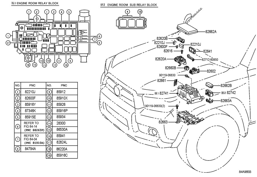 TOYOTA 4Runner Fusible link; instrument panel fusible link