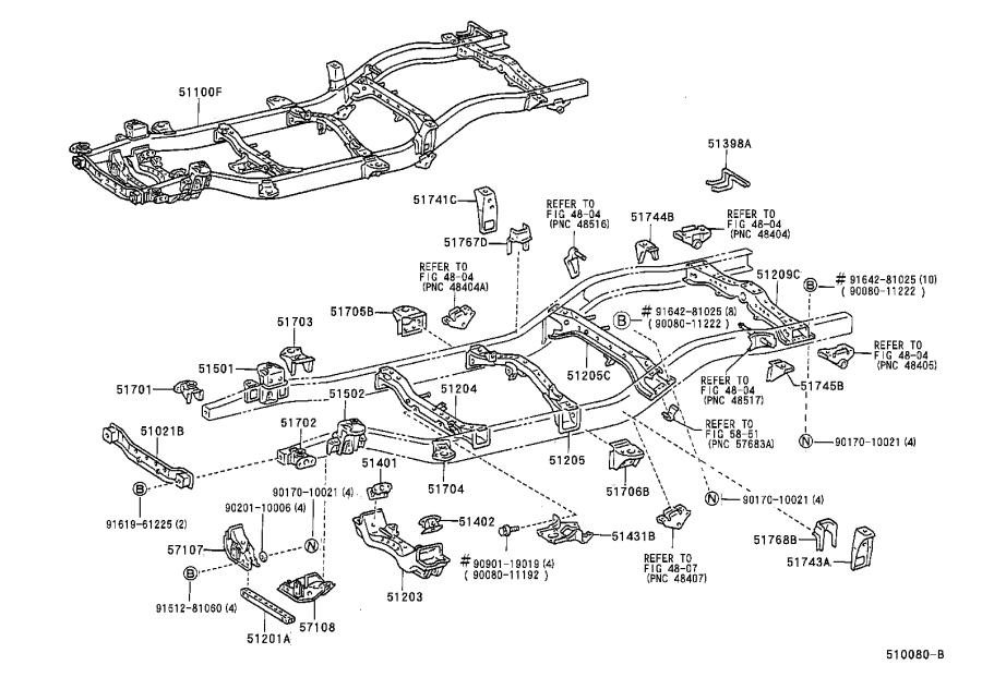 Toyota Tacoma Support sub-assembly, suspension arm, right