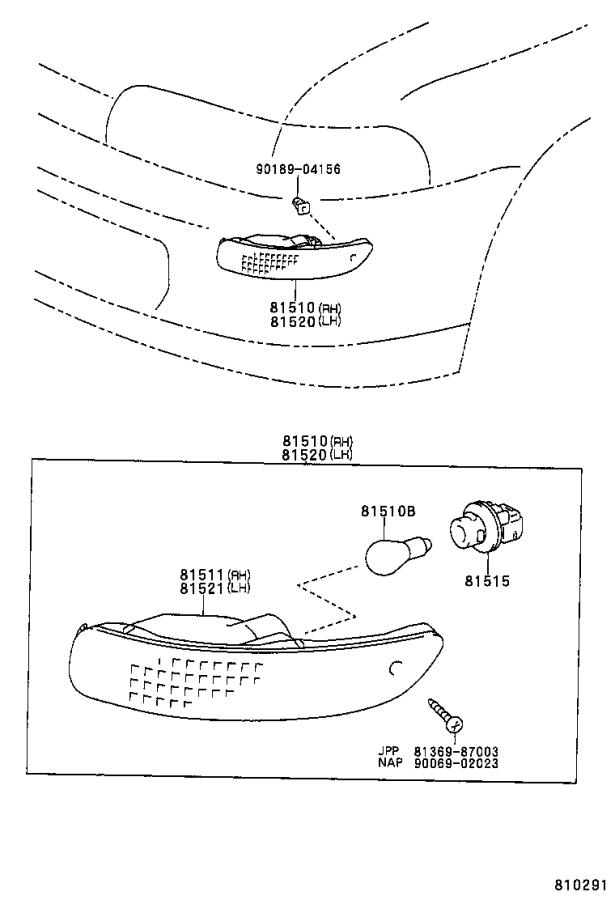 Toyota Corolla Wire sub-assembly, front turn signal lamp