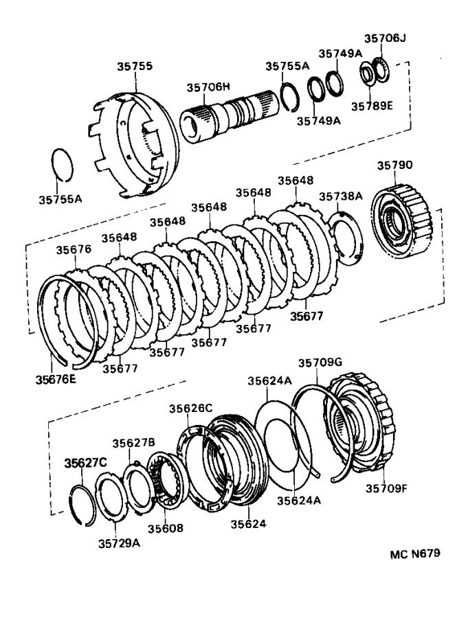 Toyota T100 Ring, shaft snap(for 2nd brake piston return