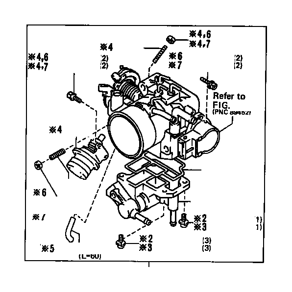 Toyota Truck Fuel Injection Idle Air Control Valve Gasket