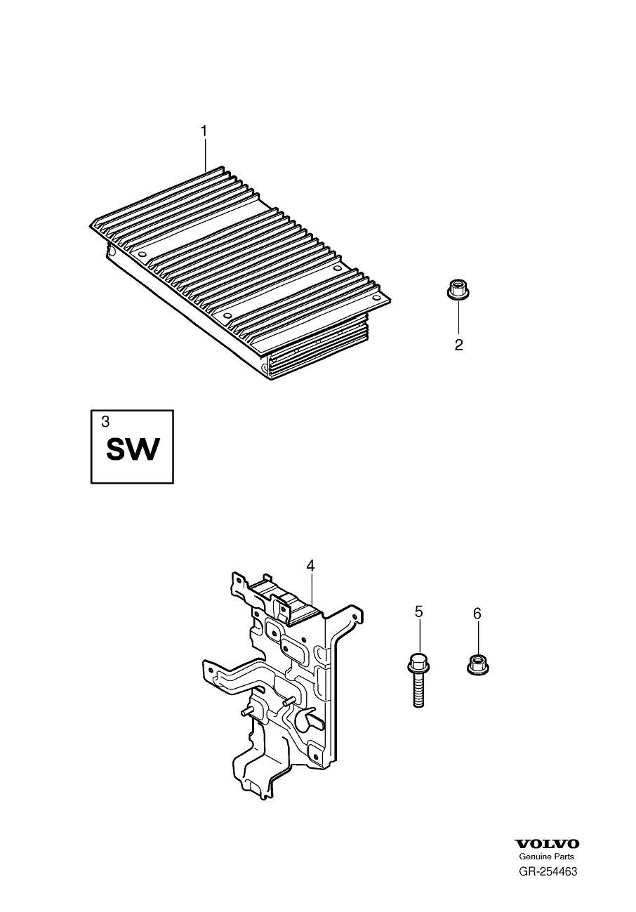 2010 Volvo Amplifier (AUD). High Performance Sound System