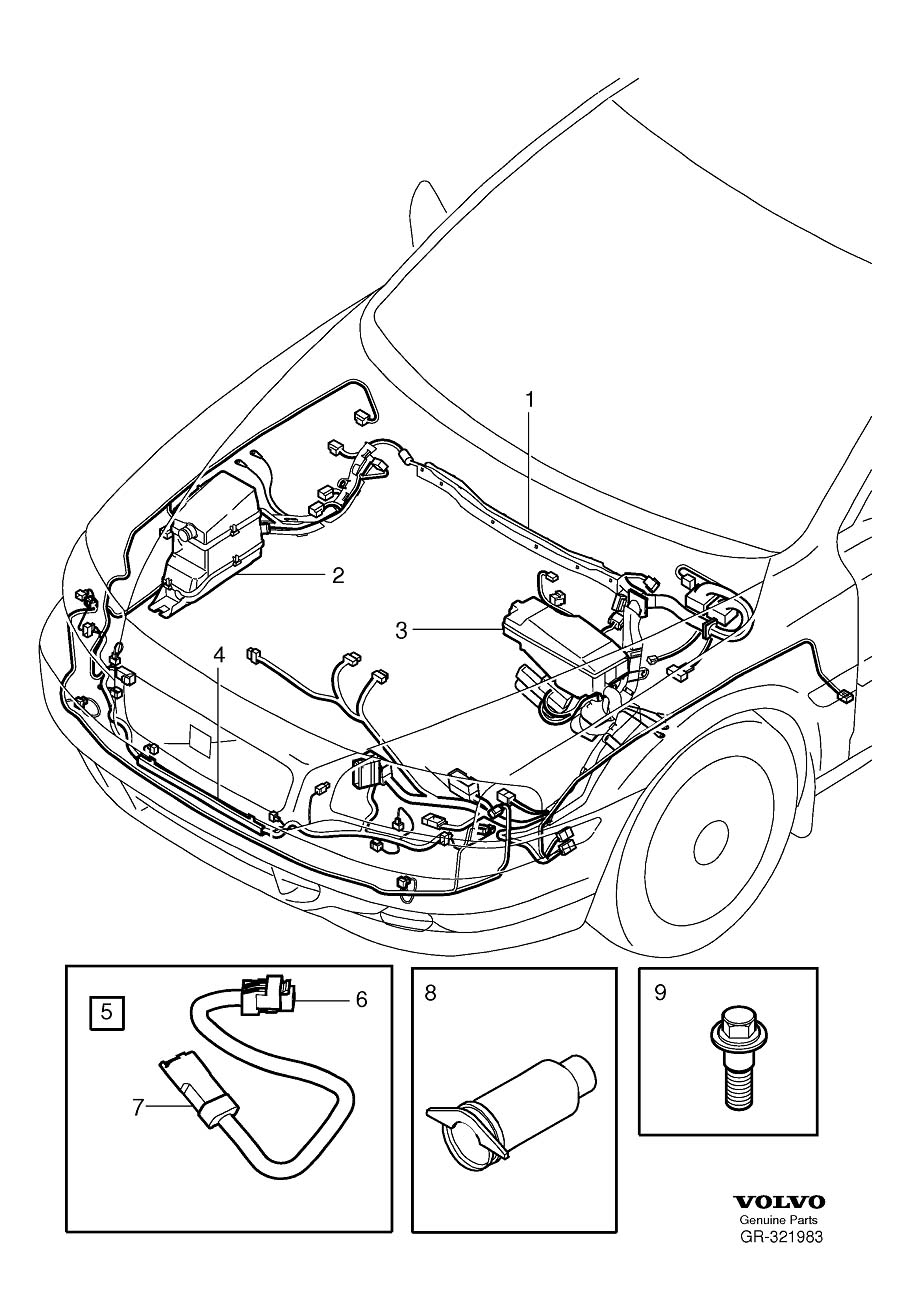 2006 Volvo Wiring Harness. Cable Harness Engine