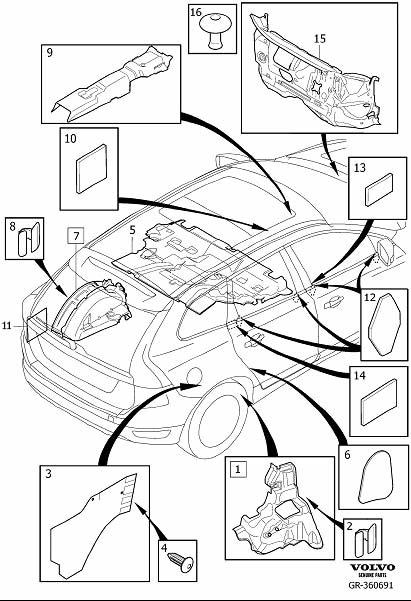2012 Volvo Insulating Mat. Insulation, Passenger and Cargo