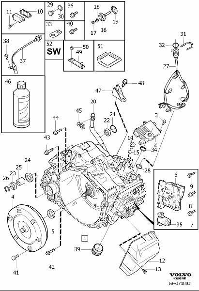 2010 Volvo Snap Ring. Gearbox, Automatic. Transmission