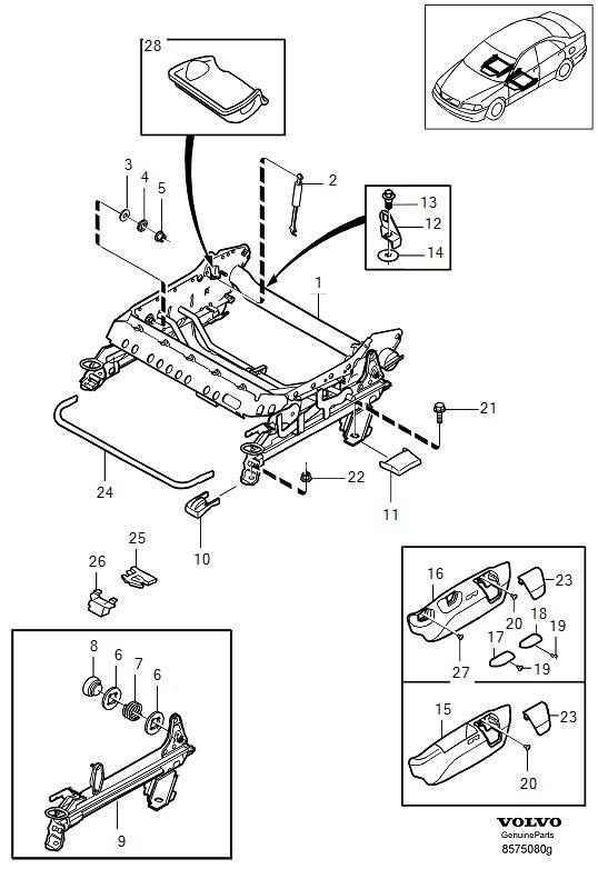 2001 Volvo Flange Screw. Adjustable and Edges. Subframe