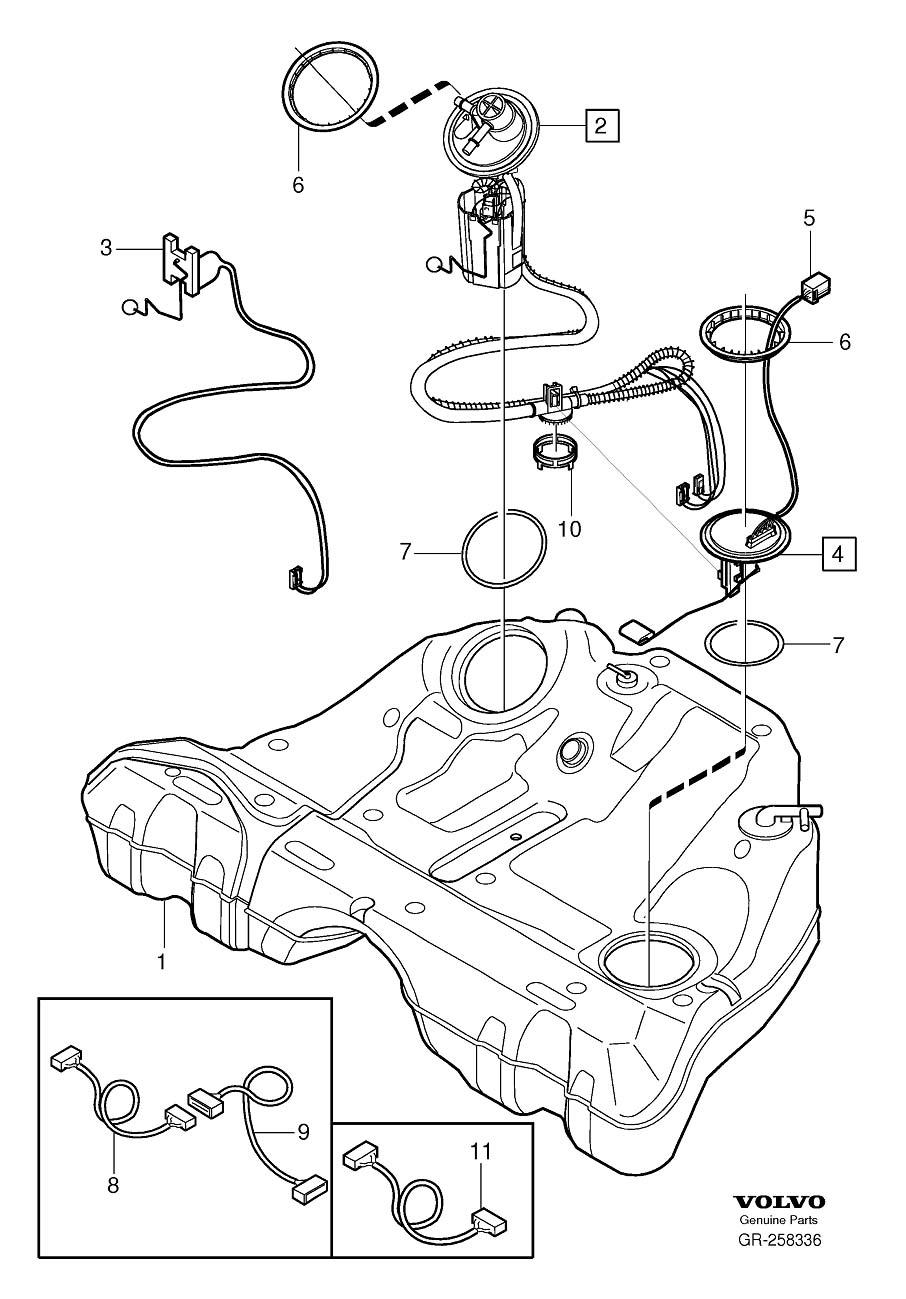 Volvo S80 Pump Unit. Complete. Fuel Pump. Tank Sender