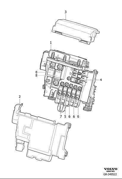 2015 Volvo XC60 Section. Primary Relay and Fuse Box Engine