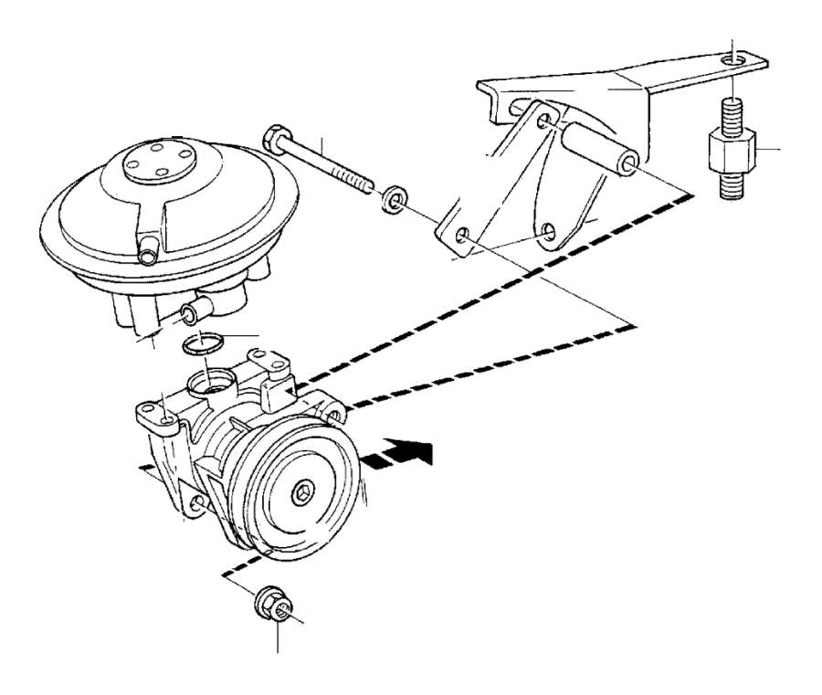 Volvo 240 Hexagon Screw. Compressed Air Unit. Cvt. D16