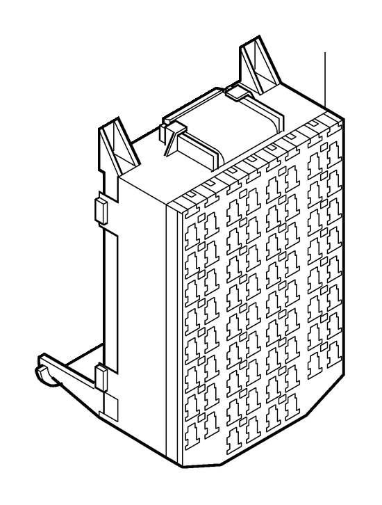 Volvo V70 Fuse Box (Inner). Fusebox, Passenger, Harness