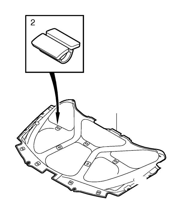 Volvo V70 XC Heat Insulation. A.C. Engine Compartment
