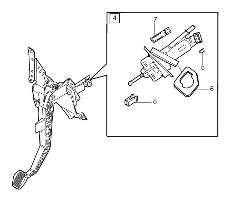 Volvo V50 Clutch Pedal. Clutch Control. CH 63833. DSL