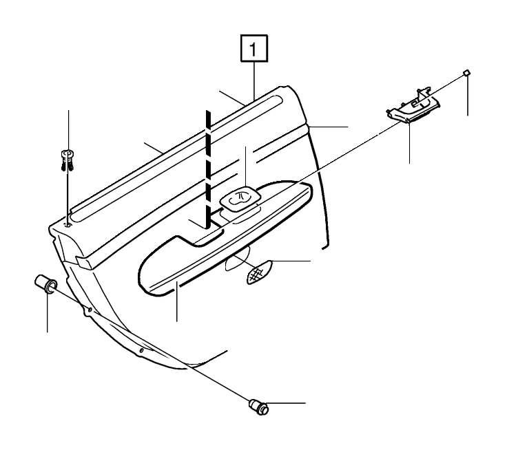 Volvo S80 Arm Rest. Door Panel. 8791, 8E91, 8F91. (Right