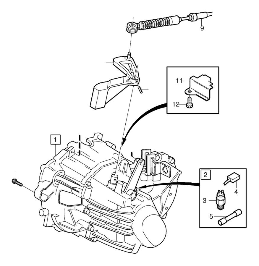 Volvo C70 Spring pin. Manual, Gearbox, Transmission