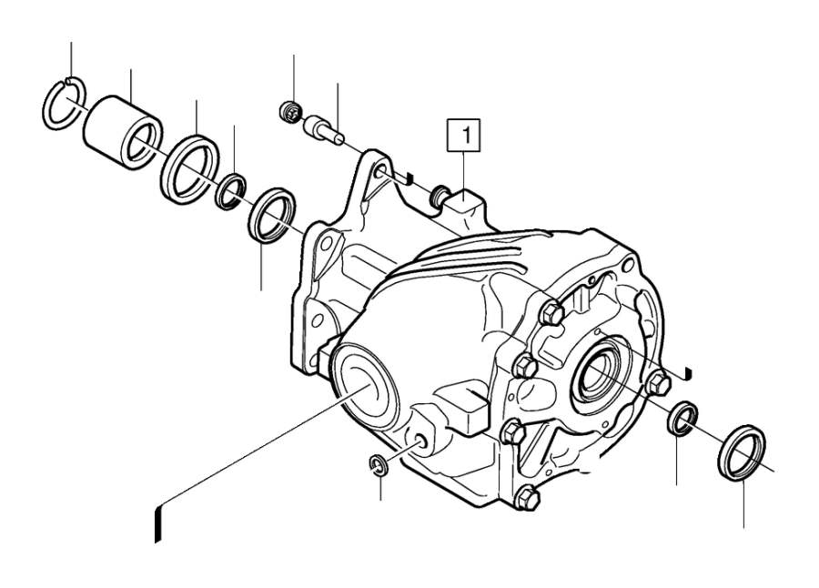 Volvo XC70 Transfer Case Output Shaft Seal. Drive Shaft