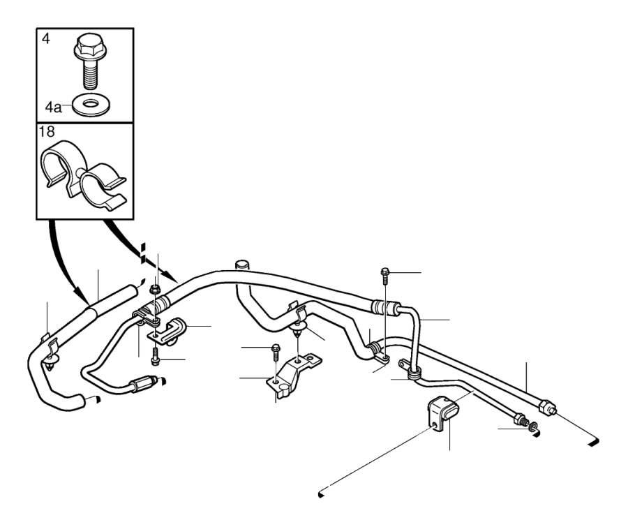 Volvo V50 Flange screw. Digital, Hubodometer, Jukebox