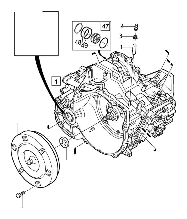 Volvo S80 Torque converter. Automatic, Transmission