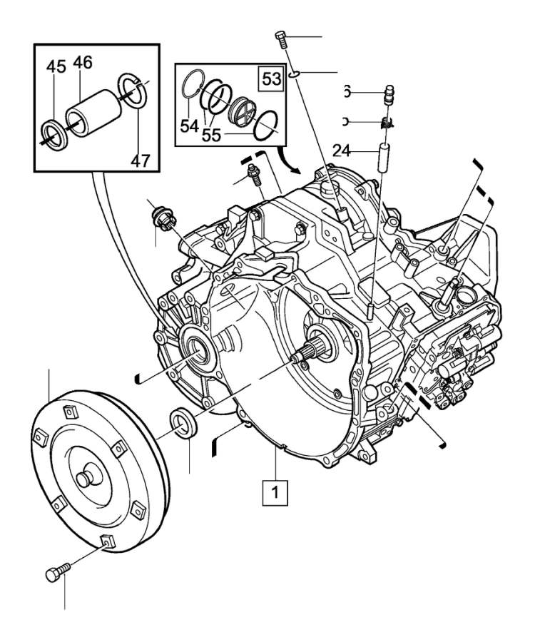 Volvo V50 Six point socket screw. Automatic, Transmission