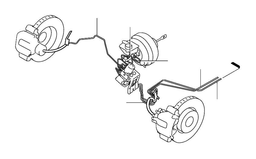 Volvo S80 Brake Lines. Brake Pipes. LARGE 465 mm. Primary