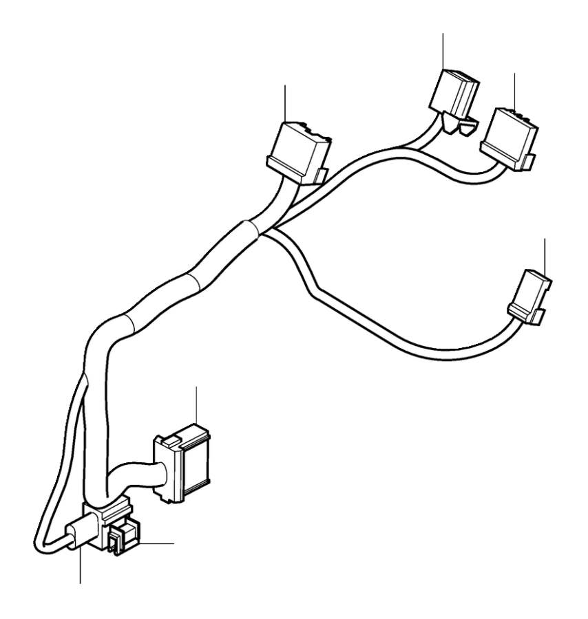 Volvo S80 Wiring Harness. Cable Harness centre Console. CH