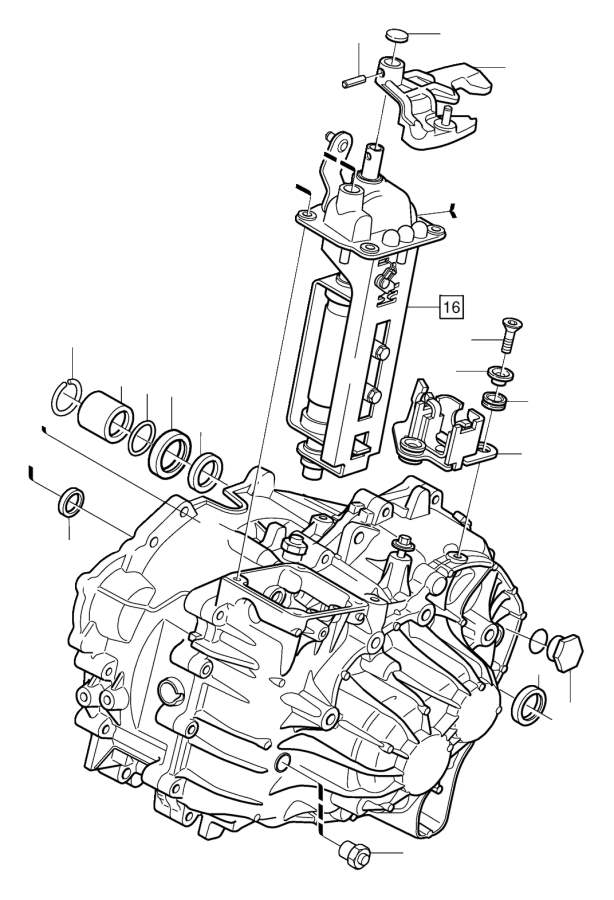Volvo S40 Spring pin. Manual, Gearbox, Transmission
