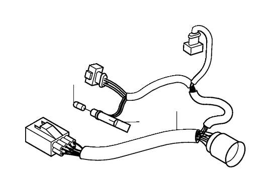 Volvo V70 XC Wiring Harness. Active Gas Discharge Lamp